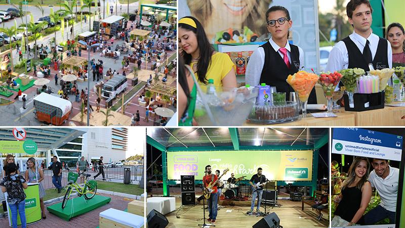 Unimed Fortaleza promove primeiro Food Park saudável do Brasil em clima de quero mais
