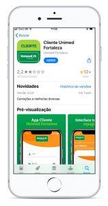 Imagem da tela do celular mostrando o aplicativo Minha Unimed