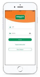 Imagem mostrando o App Cliente Unimed Fortaleza
