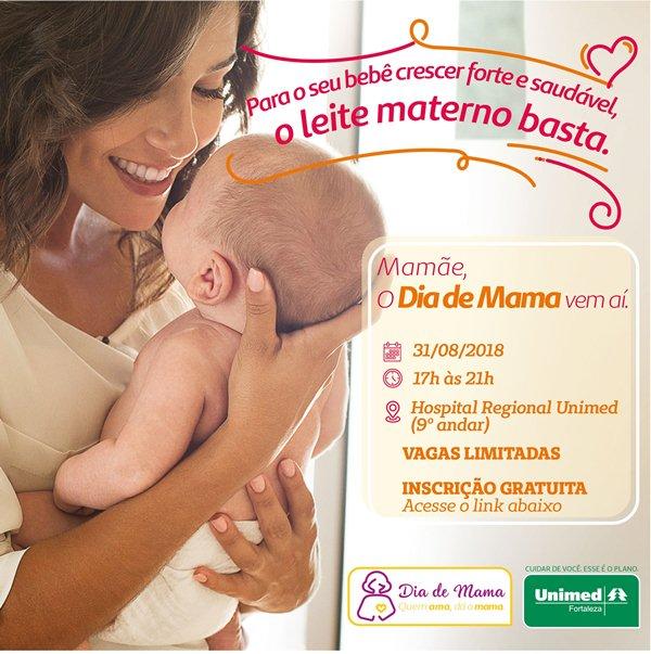 Mamãe, participe do Dia de Mama 2018