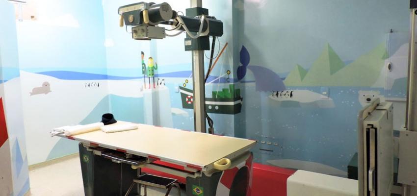 Sala de raio-x do Centro Pediátrico da Unimed Fortaleza