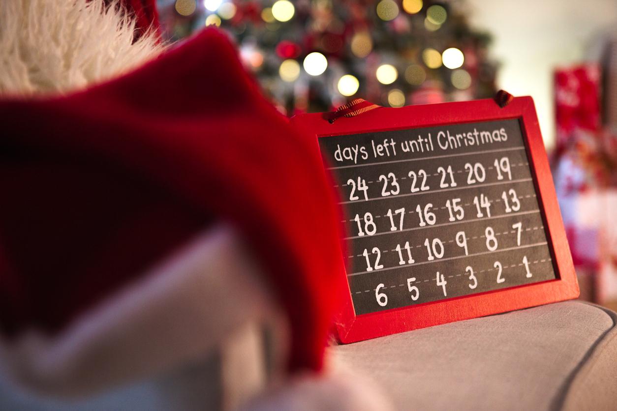Calendário de natal em inglês