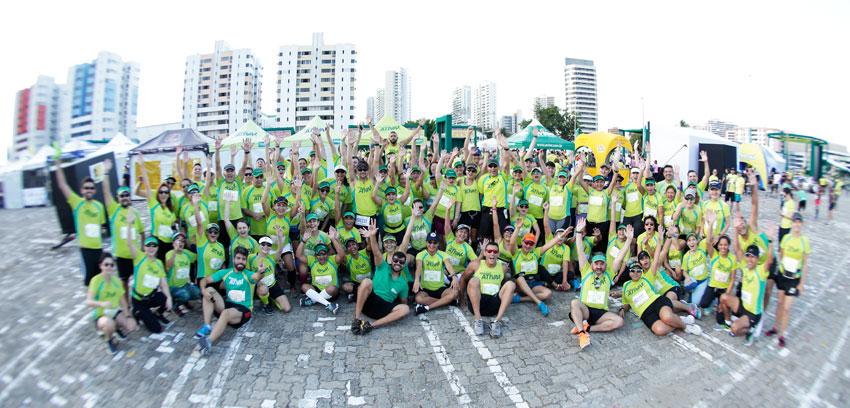 Participantes da assessoria esportiva Unimed Ativa no Iguatemi