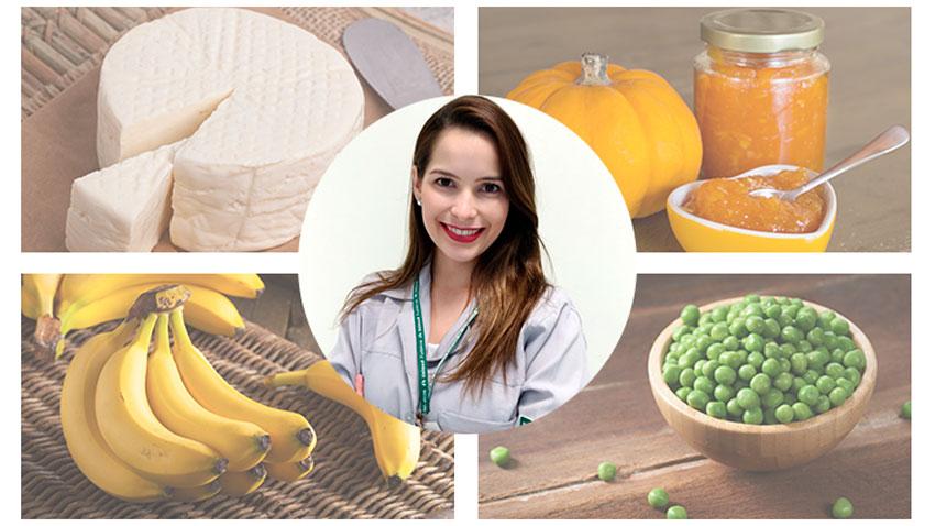 Mosaico com as escolhas da nutricionista Geórgia Amorim