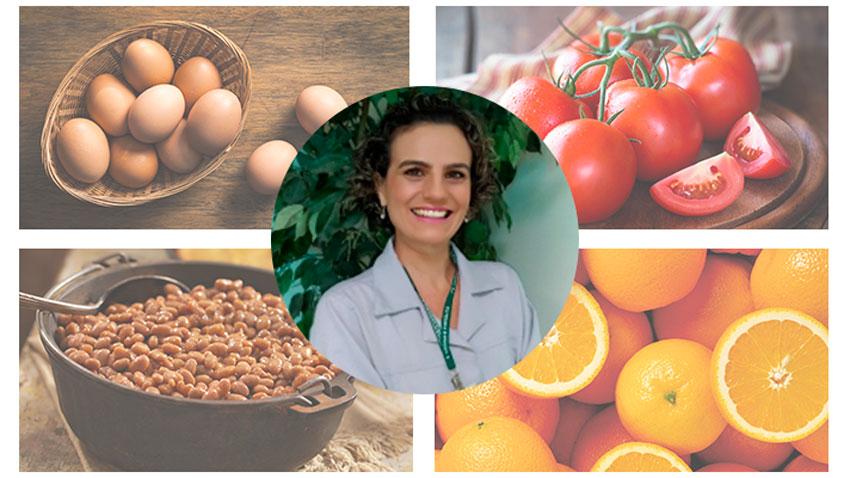 Mosaico com as escolhas da nutricionista Giulianna Mastroianni