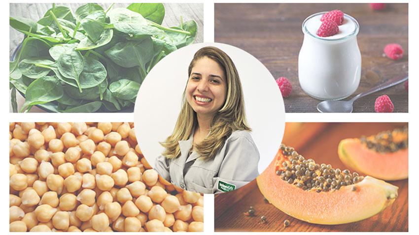 Mosaico com as escolhas da nutricionista Tamyres Ribeiro