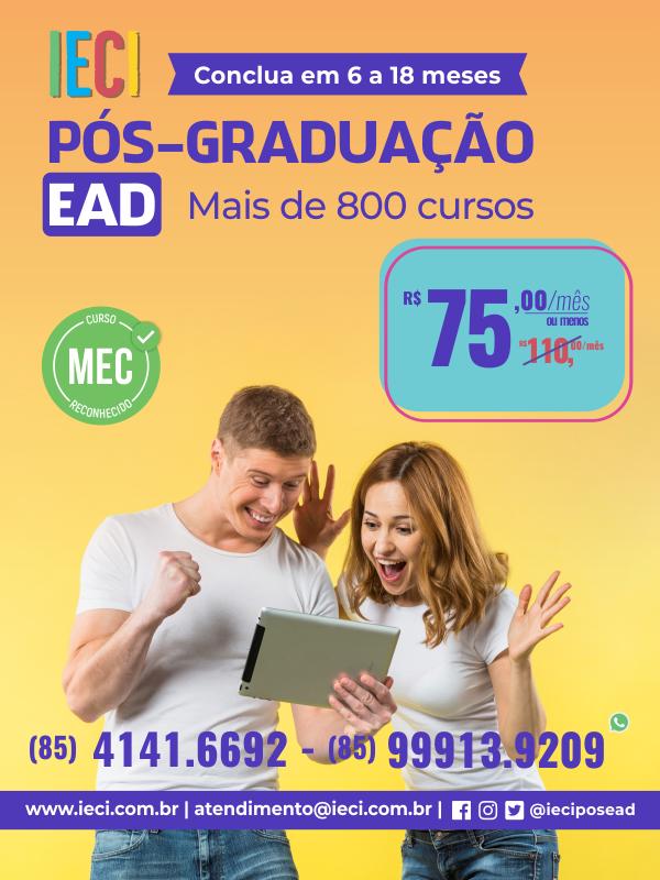Pos graduação EAD IEC garanta o desconto