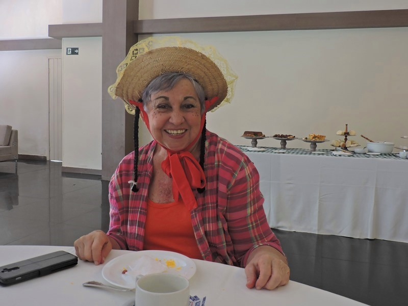 Dona Alda, uma das participantes do Roda de Vida