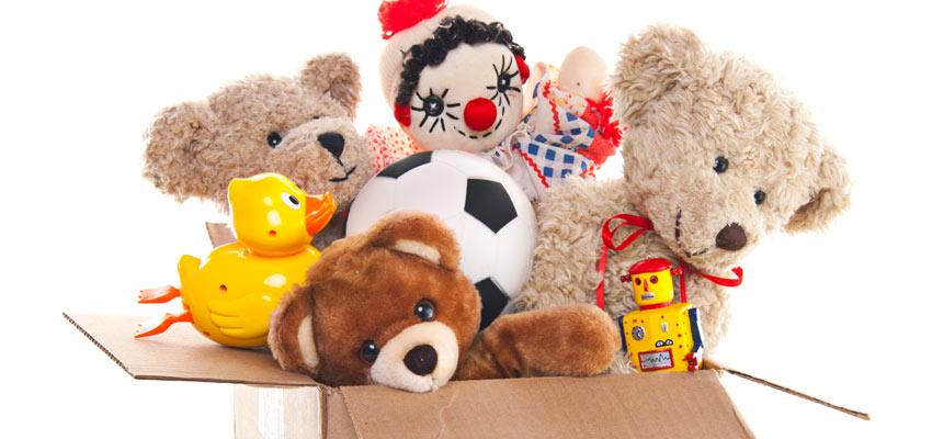 Arrecadação de brinquedos para criança para doação