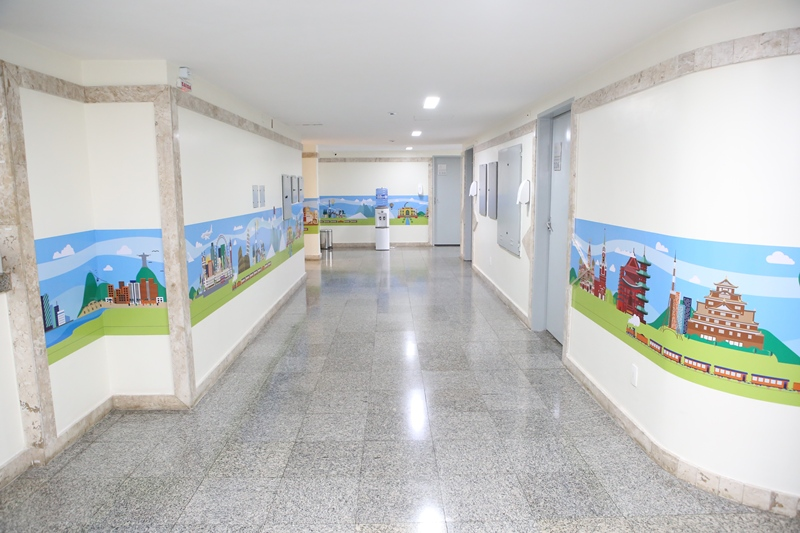 corredor ala pediátrica Hospital São Raimundo
