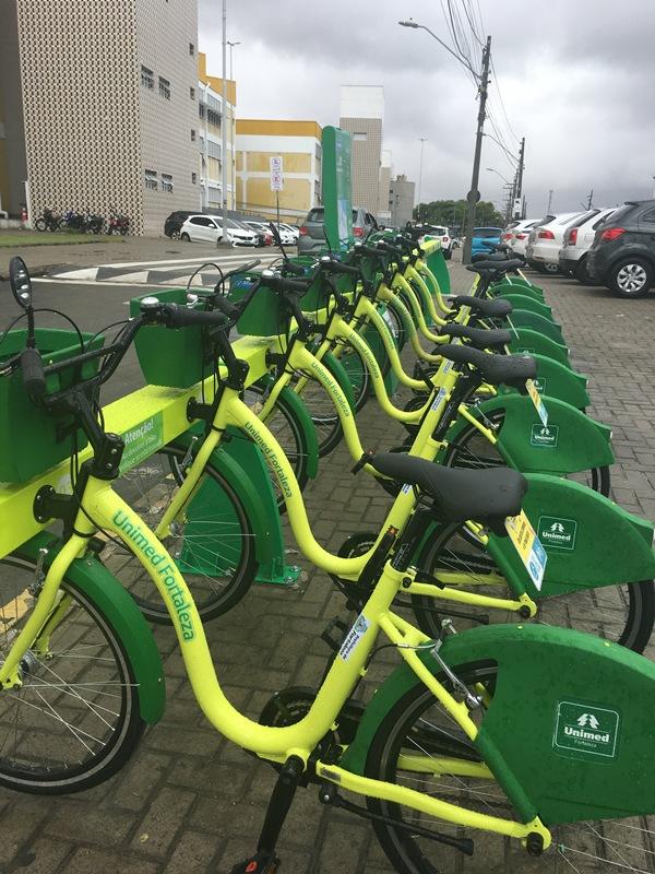 Unimed Fortaleza inaugura mais seis estações do Bicicletar