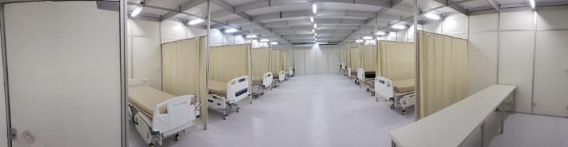 Panorâmica do Hospital de Campanha da Unimed Fortaleza