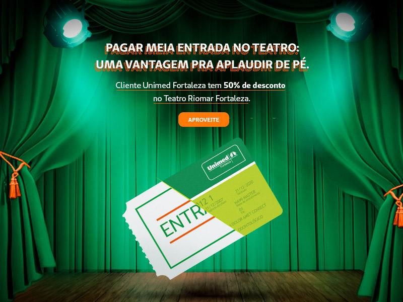Confira os descontos do Teatro Riomar