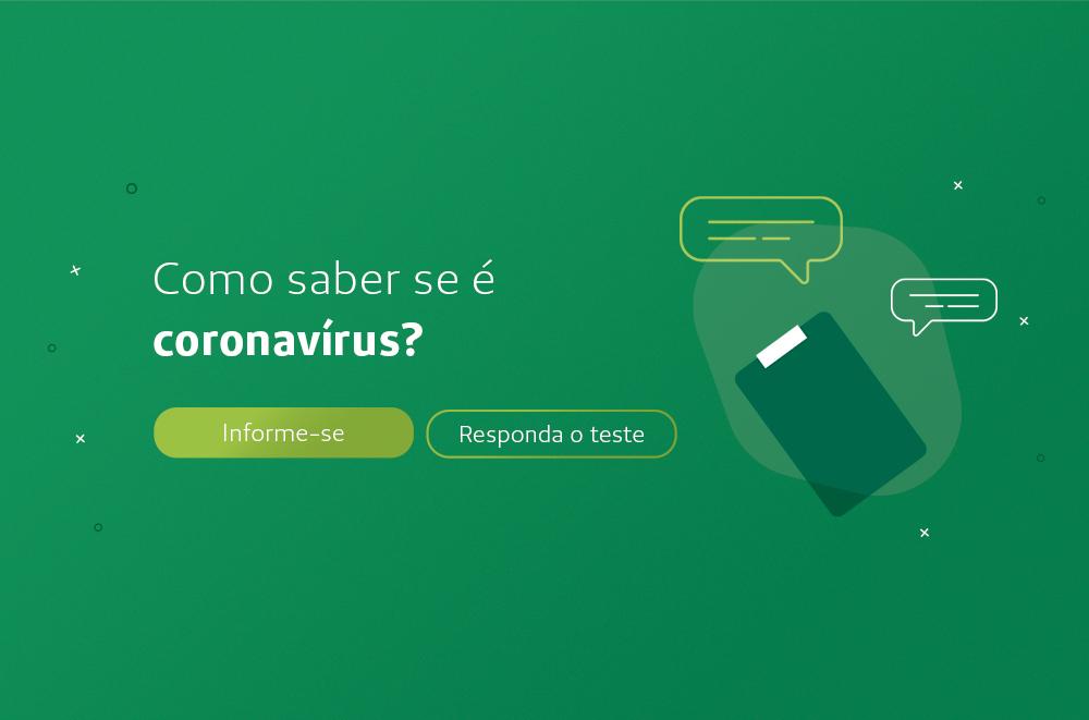 Fundo verde com um ícone de questionário e o texto