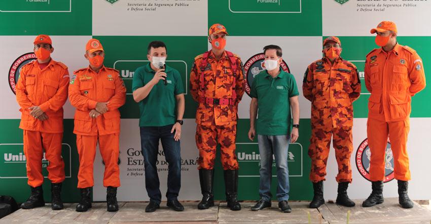 Coletiva de imprensa com o Corpo de Bombeiros e a Unimed Fortaleza