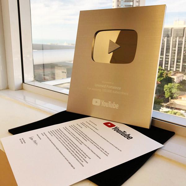 Unimed Fortaleza atinge a marca de mais de 100 mil inscritos no Youtube