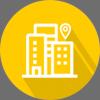icone de um edifício simbolizando um hospital
